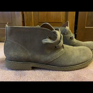 NEVER WORN Lucky Brand 7.5 Lace Up Ankle Booties
